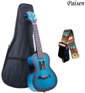 Paisen Lindo ukelele de concierto azul
